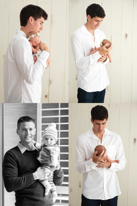 tips  newborn photos with dad